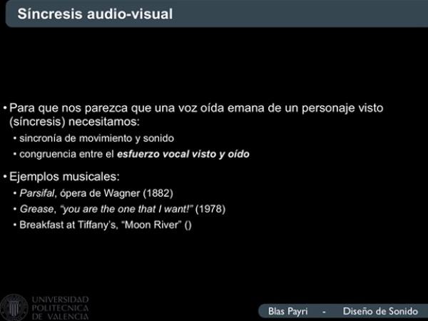 Congruencia audiovisual del esfuerzo vocal