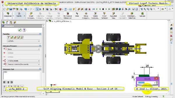 Simulación Dinámica Lego Technic 8459-2 sobre Base ¿ 02 de 14