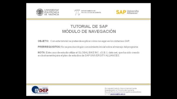 Tutorial de SAP: Introducción a la Navegación en el Sistema SAP (Teoría SAP UA)