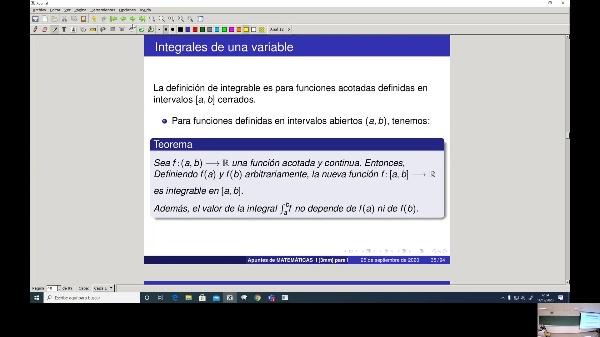 Matemáticas 1 GIOI grupo A  Clase 27 (Integrales 2)