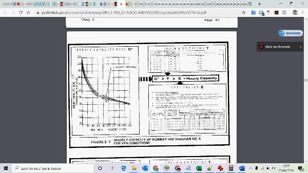 Cálculo de capacidad de un sistema de pistas usando la norma de la FAA 2
