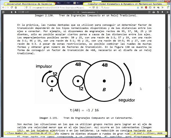Mecánica y Teoría de Mecanismos ¿ 2020 ¿ MM - Clase 05 ¿ Tramo 06 de 12