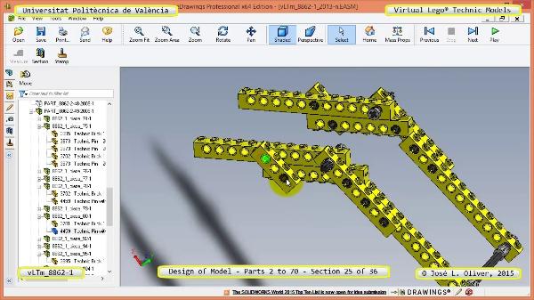 Creación Virtual Modelo Lego Technic 8862-1 ¿ Piezas 2 a 70 ¿ 25 de 36