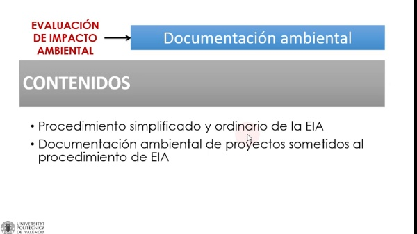 Documentacion Ambiental en la EIA