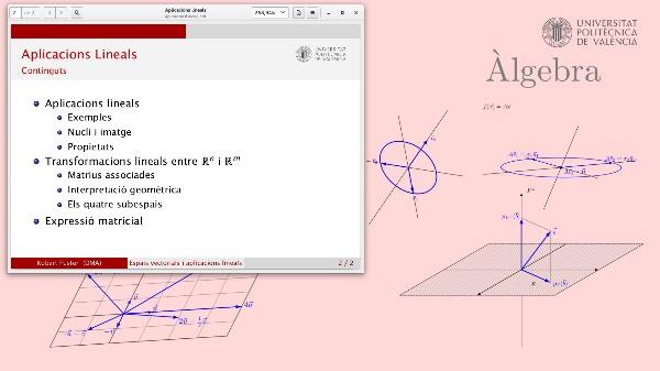 Aplicacions lineals entre Rn i Rm