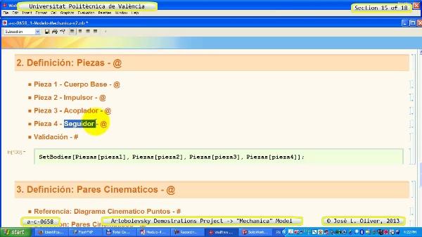 Simulación Mecanismo a_c_0658 con Mechanica - 15 de 18