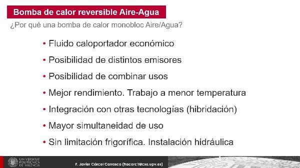 Nociones de Aerotermia para el uso en la climatización