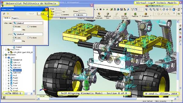 Simulación Cinemática Lego Technic 8816-1 con Cosmos Motion ¿ 8 de 8