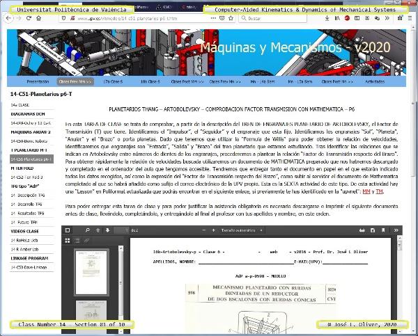 Mecánica y Teoría de Mecanismos ¿ 2020 ¿ MM - Clase 14 ¿ Tramo 01 de 10