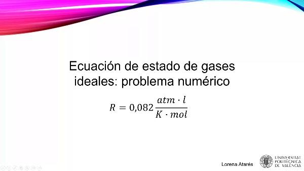 MOOC Primeros pasos termodinámica. Problema ecuación estado gases ideales