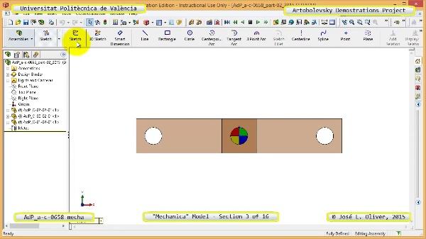 Simulación Mecanismo a-c-0658 con Mechanica - 03 de 16 - Parametrización