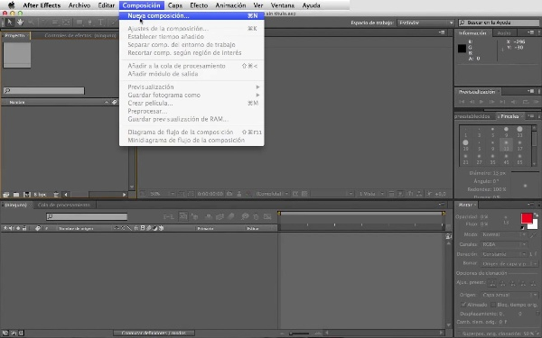 Opciones de transformación de After Effects