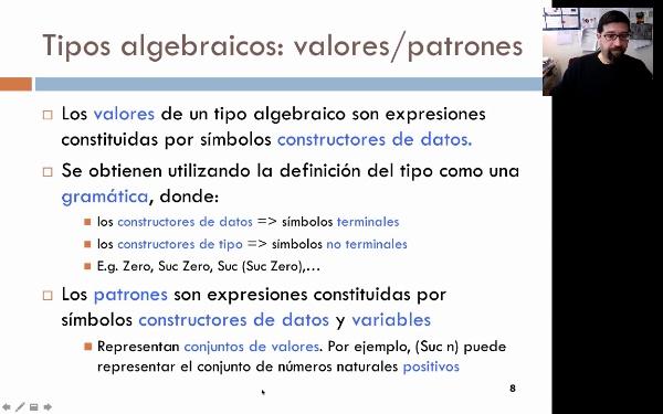 Programación funcional: tipos de datos algebraicos