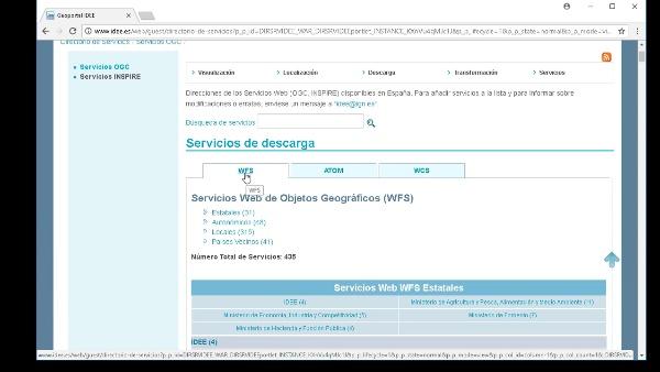 Servicios de descarga (WFS/WCS) en un SIG de escritorio