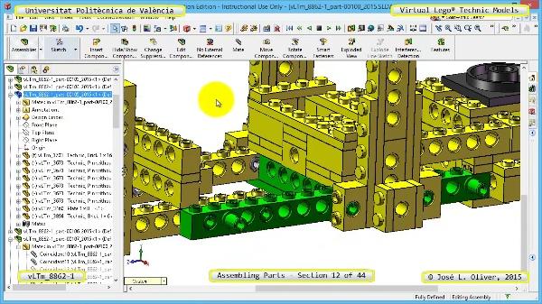 Creación Virtual Modelo Lego Technic 8862-1 ¿ Montaje Modelo ¿ 12 de 44