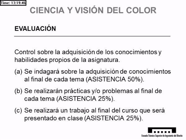 Presentación; Ciencia y Visión del Color