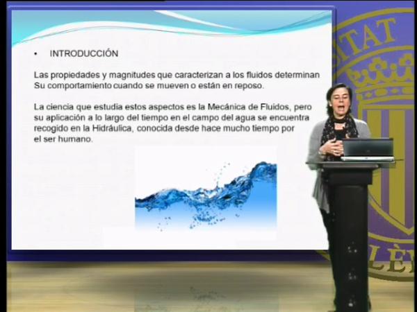 Propiedades y magnitudes de los fluidos, el agua