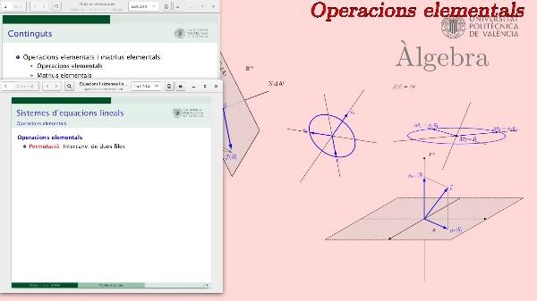 Operacions elementals i matrius elementals