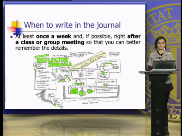 Writing your reflective journal