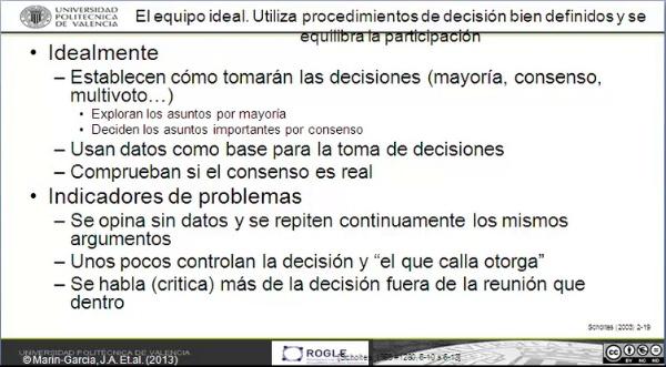 Normas y proceso de decisión en el grupo