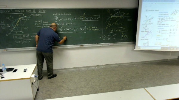 Física 1. Lección 3. Dinámica del punto 3D.Velocidad