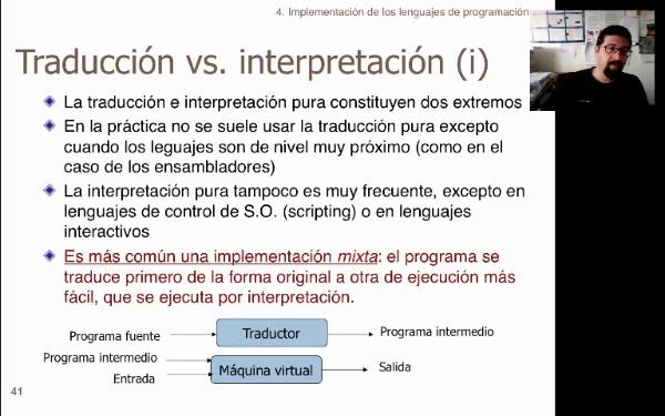 LTP. Tema 2.6. Implementación de los lenguajes de programación