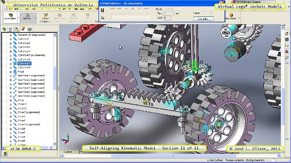 Simulación Cinemática Lego Technic 8064-2 con Cosmos Motion ¿ 11 de 11 - no audio