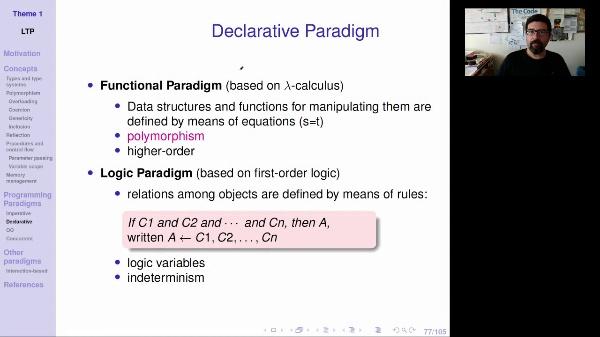 LTP - Unit 1 - Declarative paradigm