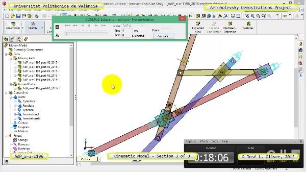 Simulación Mecanismo a-z-1196 con Cosmos Motion - 3 de 3