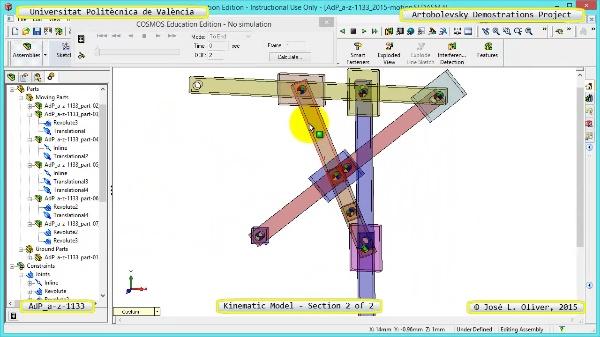 Simulación Mecanismo a-z-1133 con Cosmos Motion - 2 de 2