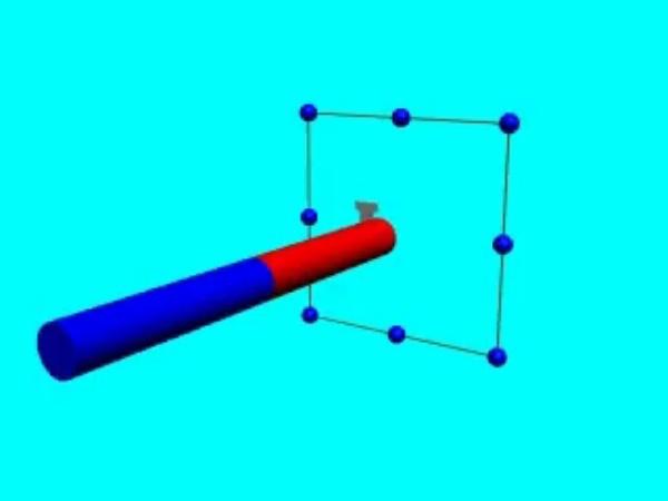 Inducción_1: Corriente inducida en una espira rectangular cuando, al variar el campo magnético, varía el flujo del mismo a través de dicha espira