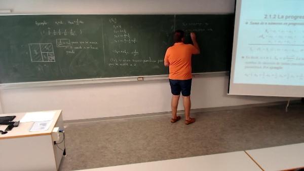 Matemáticas I-3-10-Suma de los n numeros en progresión geométrica