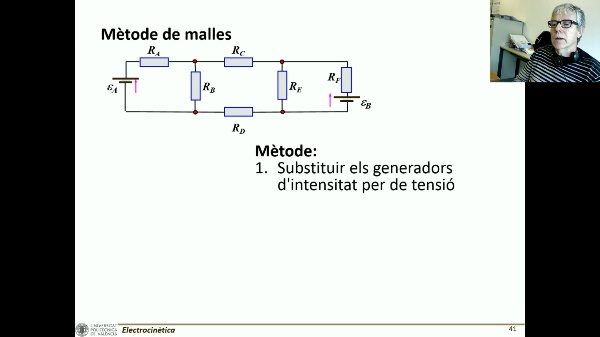 T3E: método de mallas y generador equivalente C (volumen bajo)