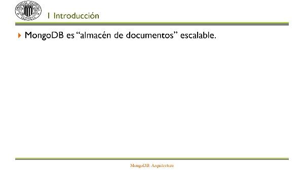 MongoDB: Arquitectura