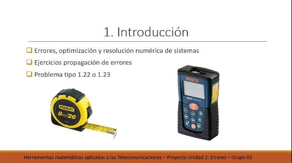 Propagación del error el el cálculo del volumen de un paralepípedo.