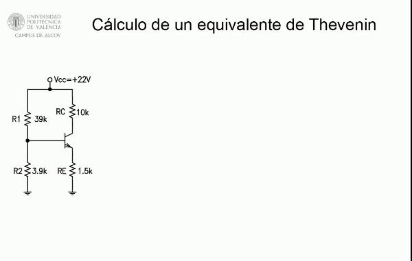 Cálculo de un equivalente de Thevenin