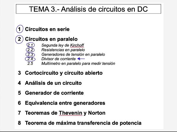 Teoría de Circuitos: 3.2.4.c- Circuitos en paralelo. Divisor de corriente. Ejercicio 1