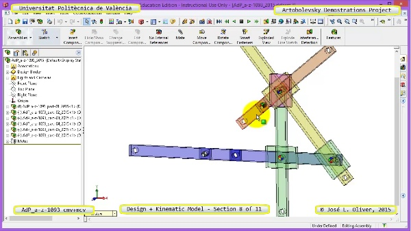 Creación Virtual y Simulación Mecanismo a-z-1093 con Cosmos Motion - 08 de 11