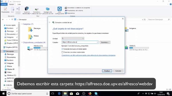 Conectar Alfresco DOE por Webdav