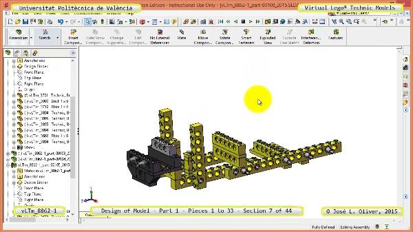 Creación Virtual Modelo Lego Technic 8862-1 ¿ Pieza 1 ¿ 07 de 44