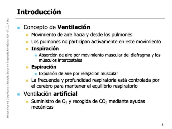 DDT-UD5-01 - Dispositivos de ventilación mecánica