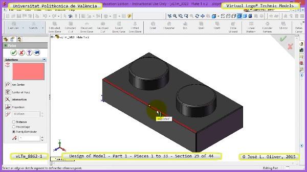 Creación Virtual Modelo Lego Technic 8862-1 ¿ Pieza 1 ¿ 29 de 44