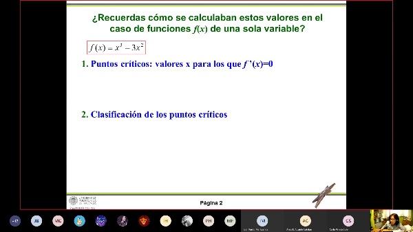 iNTRODUCCIÓN AL CÁLCULO DE MÁXIMOS Y MÍNIMOS DE FUNCIONES f(x,y)