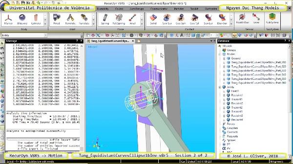 Simulación Cinemática Tang_EquidistantCurvesEllipse1bInv-v8r5 con Recurdyn - AdP-z - 2 de 2