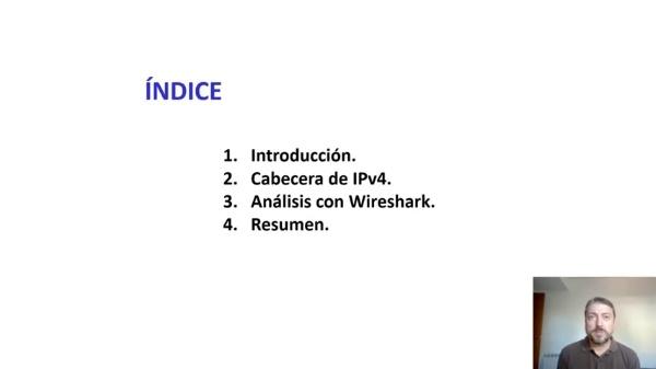 ANÁLISIS DE LA CABECERA IPv4  CON WIRESHARK