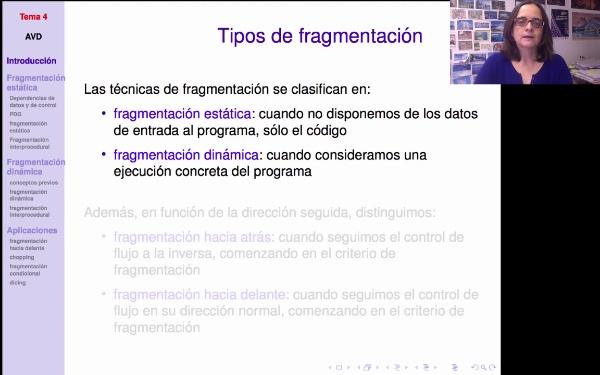 AVD - Fragmentación de programas