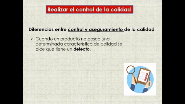 Proceso: Realizar el control de calidad