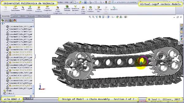 Creación Virtual Lego Technic 8047-2 ¿ Montaje de una Cadena ¿ 7 de 7