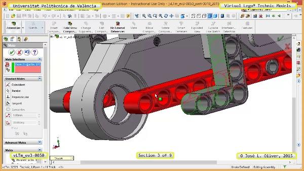 Creación Virtual Modelo Lego Technic - Isogawa ¿ ev3-0050 ¿ 3 de 9