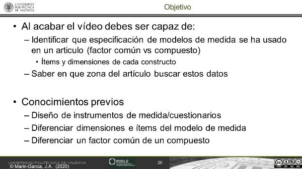Caso práctico 2: identificar el modelo de medida dimensiones e items